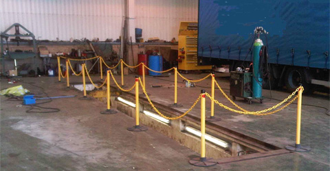 Inspection pit guard - ideal solution